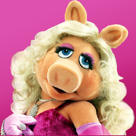 miss piggy s big number red boots
